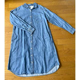 ムジルシリョウヒン(MUJI (無印良品))の無印良品 MUJI デニム シャツ ワンピース XS-S(ロングワンピース/マキシワンピース)
