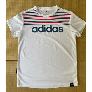 アディダス(adidas)のアディダス adidas Tシャツ ホワイト ストライプ レディース(Tシャツ(半袖/袖なし))