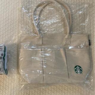 スターバックスコーヒー(Starbucks Coffee)の★新品未使用★ スターバックス2021福袋 バッグ+折り畳みクッション(トートバッグ)