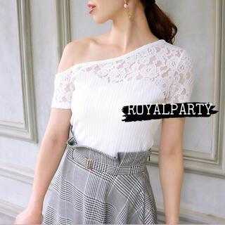 ロイヤルパーティー(ROYAL PARTY)のROYALPARTY♡アシメ リップサービス リゼクシー エイミー Rady(Tシャツ(半袖/袖なし))