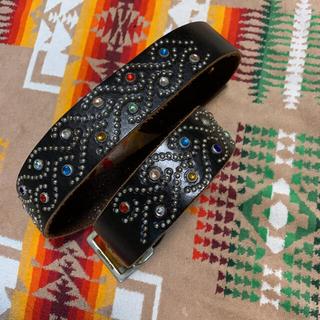 HTC - 【超豪華・超希少】HTC マルチカラースタッズベルト 試着のみの極美品‼️