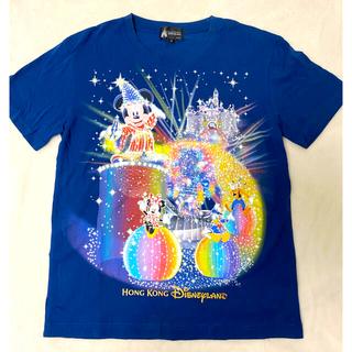 ディズニー(Disney)のHONG  KONG   DisneyLAND   Tシャツ 紺色(Tシャツ(半袖/袖なし))