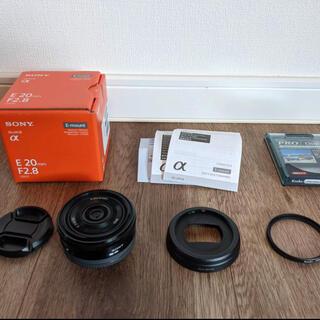 SONY - Sony Eマウント SEL20F28 美品 20mm f2.8 単焦点