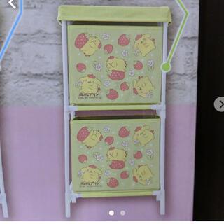ポムポムプリン - ポムポムプリン いちごいっぱい2段収納ボックス サンリオキャラクターズ