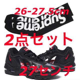 Supreme - 27cm Supreme Nike Air Max 96 black+socks