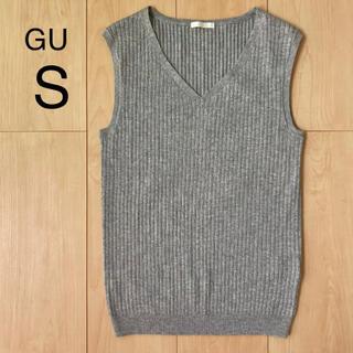 ジーユー(GU)の【GU】UVカット ノースリーブVネックニット S(ニット/セーター)