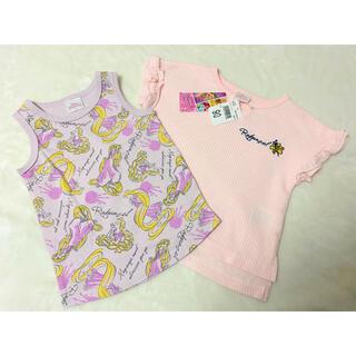 Disney - Disney  ラプンツェル Tシャツ タンクトップ アンサンブル 90サイズ