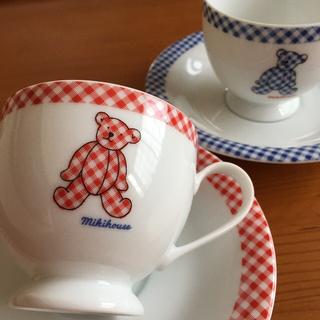 ミキハウス(mikihouse)のミキハウス カップ&ソーサー 2客セット(グラス/カップ)