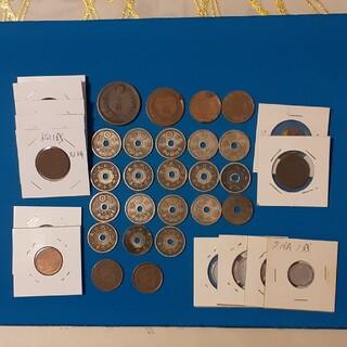 古小銭 明治~昭和 計37枚(貨幣)