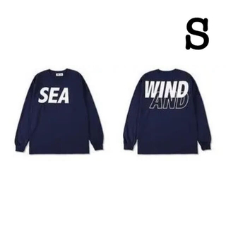 SEA - WIND AND SEA L/S T-Shirt Navy-White