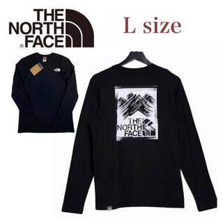 ザノースフェイス(THE NORTH FACE)のノースフェイス 長袖 ボックス Tシャツ  ロンT バックログ ブラック L(Tシャツ/カットソー(七分/長袖))