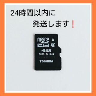 東芝 - マイクロSDカード 4GB