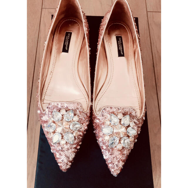 DOLCE&GABBANA(ドルチェアンドガッバーナ)のDOLCE&GABBANAフラットシューズ,ドルチェアンドガッバー レディースの靴/シューズ(バレエシューズ)の商品写真
