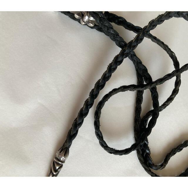 Chrome Hearts(クロムハーツ)のクロムハーツ❤️CH クロス レザーブレイド ネックレス メンズのアクセサリー(ネックレス)の商品写真