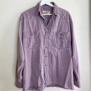 サンタモニカ(Santa Monica)のvintage パープルオーバーシャツ(シャツ/ブラウス(半袖/袖なし))