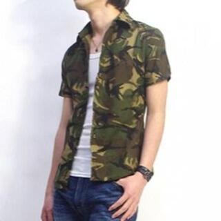 エイケイエム(AKM)のVADEL バデル サルベージ ワイヤーフック カモフラシャツ 日本製(シャツ)