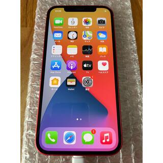 アイフォーン(iPhone)の【美品】iPhone12 64GB レッド SIMロック解除済み(スマートフォン本体)