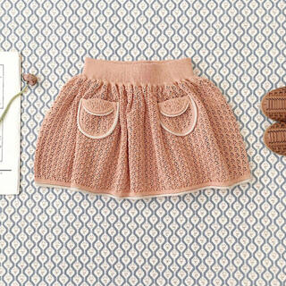 Caramel baby&child  - soor ploom21ss ニットスカート