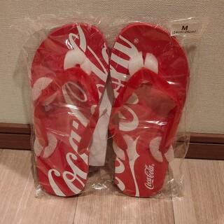 コカコーラ(コカ・コーラ)のコカ・コーラ ビーチサンダル Mサイズ(ビーチサンダル)