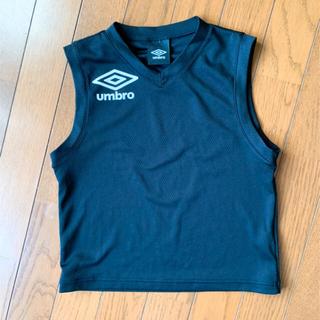 アンブロ(UMBRO)のキッズ サッカー インナー シャツ 黒 アンブロ セットタンクトップ (ウェア)