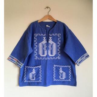 Santa Monica - グアテマラヴィンテージ鳥刺繍シャツ/ジャンティーク/メキシカン/民族/手仕事