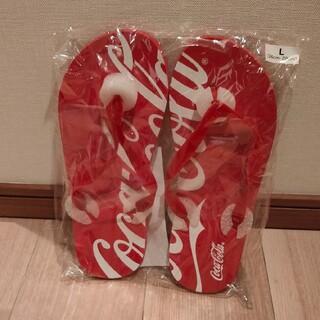 コカコーラ(コカ・コーラ)のコカ・コーラ ビーチサンダル Lサイズ(ビーチサンダル)
