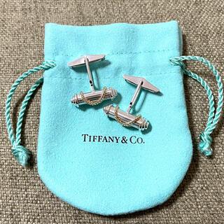 Tiffany & Co. - 【美品】ティファニー カフス カフリンクス シグネチャークロス 925 750