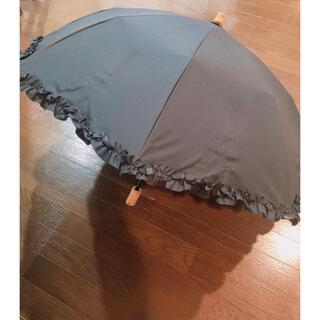 サンバリア100 完全遮光日傘2段折フリルブラック
