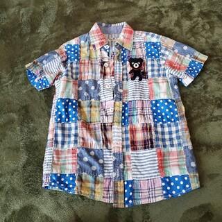 ダブルビー(DOUBLE.B)のダブルBのパッチワークシャツ(ブラウス)