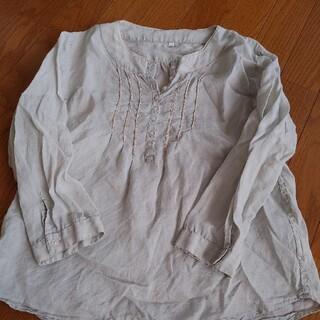 ムジルシリョウヒン(MUJI (無印良品))の無印良品 麻7分袖ブラウス Mサイズ(シャツ/ブラウス(長袖/七分))