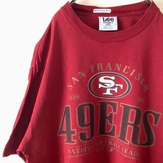アイスクリーム(EYESCREAM)のLee 49ERS Tシャツ XL えんじ レッド 古着(Tシャツ/カットソー(半袖/袖なし))