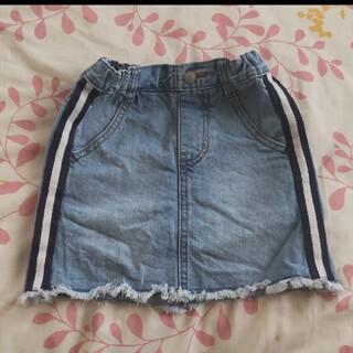 ジーユー(GU)の美品★GU★サイズ 110★デニムスカートデザインが可愛くて購入したので(スカート)