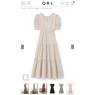 GRL - GRL  グレイル  ティアードワンピース