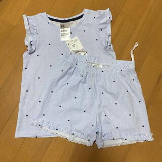 H&M - 定価1499円 新品 タグ付き H&M フリル袖 短パン セットアップ