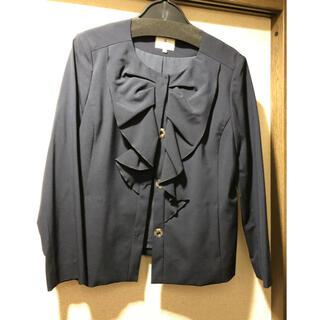 ランバンオンブルー(LANVIN en Bleu)の新品未使用 ランバンオンブルー ジャケット サイズ36 紺色(ノーカラージャケット)