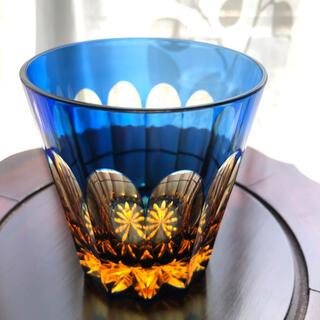 江戸切子瑠璃アーバンロックグラス