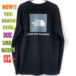 ザノースフェイス(THE NORTH FACE)の最大 ♪ 新品 ノースフェイス BOX NSE ロンT 黒 5XL 4XL(Tシャツ/カットソー(半袖/袖なし))