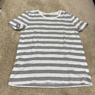 ムジルシリョウヒン(MUJI (無印良品))の無印良品 グレーボーダーTシャツ(Tシャツ(半袖/袖なし))