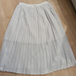 NATURAL BEAUTY BASIC - 美品 ナチュラルビューティーベーシック グレージュ プリーツスカート