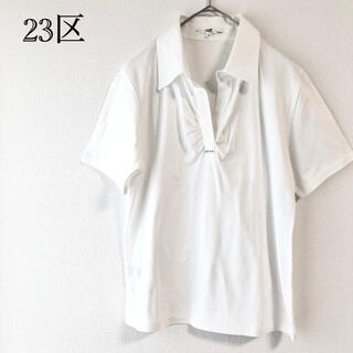 ニジュウサンク(23区)の23区 オンワード  スキッパー  シャツ  (Tシャツ(半袖/袖なし))