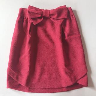 ウィルセレクション(WILLSELECTION)のリボン付きスカート(ひざ丈スカート)