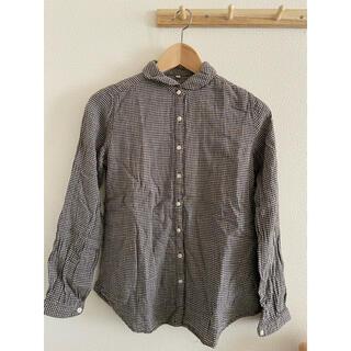 ムジルシリョウヒン(MUJI (無印良品))の無印 丸襟チェックシャツ(シャツ/ブラウス(長袖/七分))