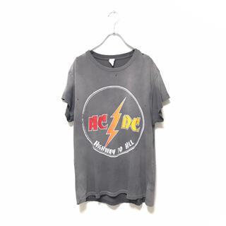 L'Appartement DEUXIEME CLASSE - ドゥロワー アパルトモン 取扱 MADE WORN AC/DC ロックTシャツ