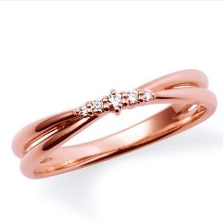 ザキッス(THE KISS)の【✩超美品✩】K10ピンクゴールド リング ダイヤモンド(リング(指輪))