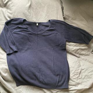 ムジルシリョウヒン(MUJI (無印良品))の無印良品半袖春用セーター(Mサイズ)(ニット/セーター)
