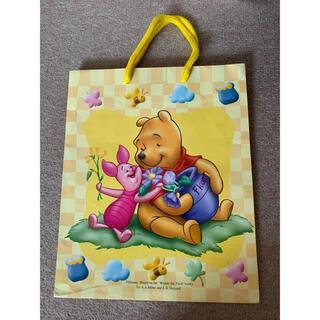 ディズニー(Disney)のプーさん 紙バッグ 紙袋 イエロー(ショップ袋)