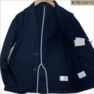 TAKEO KIKUCHI - J5112 新品 タケオキクチ アンコン サマーテーラードジャケット 紺 L