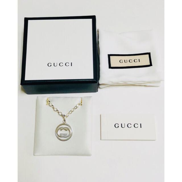 Gucci(グッチ)のGUCCI グッチ シルバー インターロッキング ネックレス 中古 極美品 38 メンズのアクセサリー(ネックレス)の商品写真