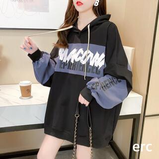 【新品】パーカー レディース ゆったり 春 人気 韓国 メンズ おおきいサイズ(パーカー)