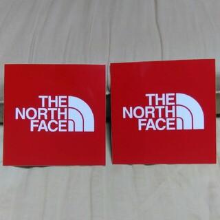 THE NORTH FACE - ザ ノース フェイス The North Face ステッカー 赤2枚正規品